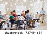 education  school and people... | Shutterstock . vector #737494654