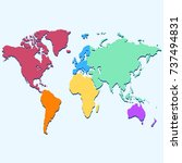 color world map | Shutterstock .eps vector #737494831