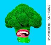 fun art collage vegan...   Shutterstock . vector #737496037