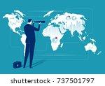 global investment opportunity.... | Shutterstock .eps vector #737501797