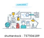 class lesson concept. system... | Shutterstock .eps vector #737506189