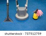 disk machine  vacuum cleaner...   Shutterstock . vector #737512759