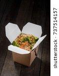 box of stir fried rice with...