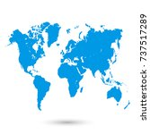 world map | Shutterstock .eps vector #737517289