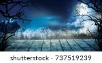 spooky horror background with...   Shutterstock . vector #737519239