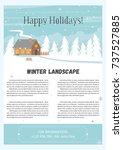 vector illustration of winter... | Shutterstock .eps vector #737527885