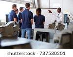 engineering apprentices... | Shutterstock . vector #737530201