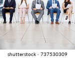 five candidates waiting for job ... | Shutterstock . vector #737530309