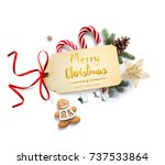 christmas holiday decoration ... | Shutterstock . vector #737533864