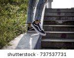 milan  italy   september 28 ... | Shutterstock . vector #737537731