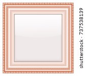 empty vintage frames on white... | Shutterstock .eps vector #737538139