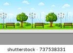 vector illustration of green... | Shutterstock .eps vector #737538331
