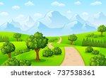 vector illustration of green... | Shutterstock .eps vector #737538361