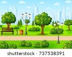vector illustration of green... | Shutterstock .eps vector #737538391