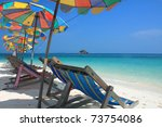 Beach Chair And Colorful...