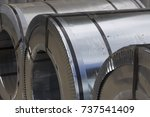 rolls of cold rolled galvanized ... | Shutterstock . vector #737541409