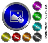 unknown image icons on round...   Shutterstock .eps vector #737543155