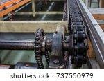 conveyor belt and conveyor...   Shutterstock . vector #737550979