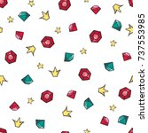 cute seamless pattern with... | Shutterstock .eps vector #737553985