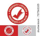 produits locaux  french... | Shutterstock .eps vector #737563105