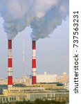 air pollution | Shutterstock . vector #737563231
