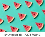colorful fruit pattern of fresh ... | Shutterstock . vector #737570047