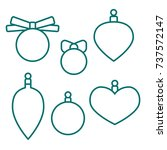 christmas balls  coloring book... | Shutterstock .eps vector #737572147