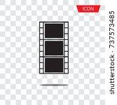 film icon vector vector... | Shutterstock .eps vector #737573485