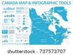 canada map   detailed info...   Shutterstock .eps vector #737573707