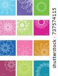 vector set of round frames from ...   Shutterstock .eps vector #737574115
