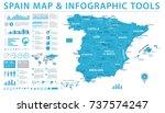 spain map   detailed info...   Shutterstock .eps vector #737574247