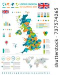 united kingdom infographic map... | Shutterstock .eps vector #737574265