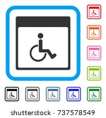 handicapped calendar page icon. ... | Shutterstock .eps vector #737578549
