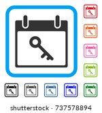 key calendar day icon. flat...