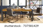 elegant dining room design.... | Shutterstock . vector #737581429