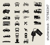 transport icons | Shutterstock .eps vector #737582347