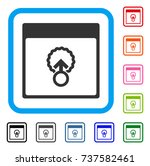 cell penetration calendar page... | Shutterstock .eps vector #737582461