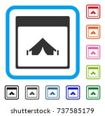 camping calendar page icon....