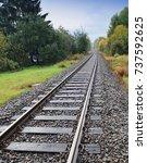 single railway | Shutterstock . vector #737592625