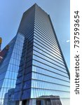 office tower in the hudson...   Shutterstock . vector #737593654