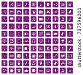 100 webdesign icons set in...   Shutterstock .eps vector #737596201