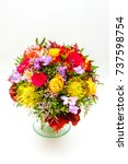wedding bouquet isolated on a... | Shutterstock . vector #737598754