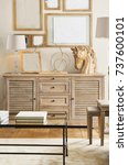 wardrobe interior room. wooden... | Shutterstock . vector #737600101