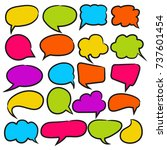colorful comic speech bubble... | Shutterstock .eps vector #737601454