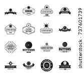 clothes button sewing logo... | Shutterstock .eps vector #737601739