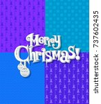 seamless christmas texture with ... | Shutterstock .eps vector #737602435