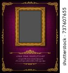 thailand royal gold frame on... | Shutterstock .eps vector #737607655