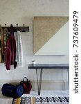 interior of bright hallway home.... | Shutterstock . vector #737609479