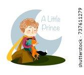 vector illustration. a little... | Shutterstock .eps vector #737611279