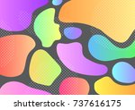 creative geometric colorful...   Shutterstock .eps vector #737616175